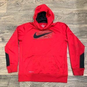 Nike therma-fit red hoodie